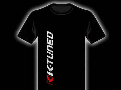K-Tuned Distressed Vertical Logo T-Shirt (Black) Front