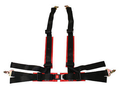 Megan Racing 4-Point Harness (Black / Red)
