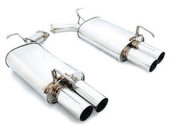 Megan Racing Axle Back Exhaust Dual Tips 2006-2010 Infiniti M45