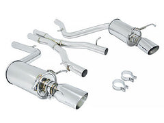Megan Racing Catback Exhaust OE-RS Stainless Roll Tips 2008-2014 Mercedes C300 Sedan V6