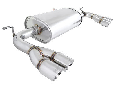 Megan Racing Axle Back Exhaust Stainless Roll Tips 2010-2012 Hyundai Genesis Coupe