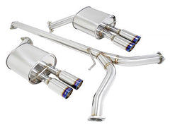 Megan Racing Catback Exhaust Type 2 Burnt Rolled Tips 2011-2013 Hyundai Sonata