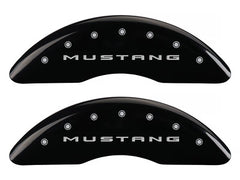 MGP Front Brake Caliper Covers 2015-2017 Ford Mustang GT (Black Finish / Mustang / 5.0 Engraving)