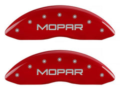 MGP Front Brake Caliper Covers 2011-2018 Dodge Challenger (Red Finish / Mopar Engraving)