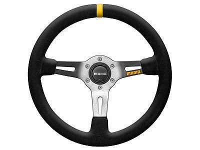 Momo MOD.08 350MM Suede/Black Spoke Racing Steering Wheel