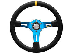 Momo MOD.08 350MM Suede/Blue Spoke Racing Steering Wheel