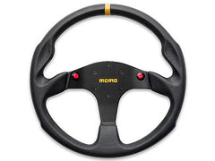 Momo MOD.80 Evo 350MM Black Leather Racing Steering Wheel