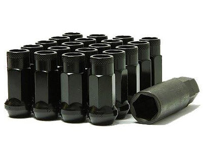 Muteki SR48 Series Black Lug Nuts 20 PC (12x1.25, Extended Open End)