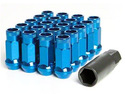 Muteki SR48 Series Blue Lug Nuts 20 PC (12x1.25, Extended Open End)