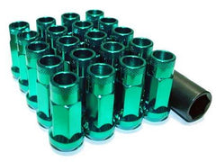 Muteki SR48 Series Green Lug Nuts 20 PC (12x1.25, Extended Open End)