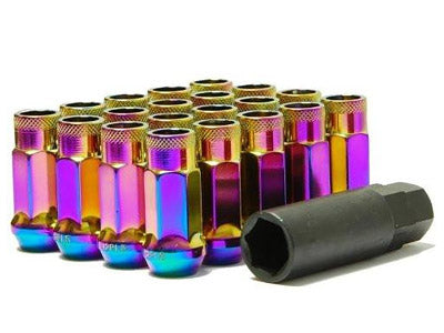 Muteki SR48 Series Neon Lug Nuts 20 PC (12x1.25, Extended Open End)