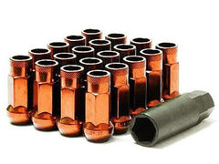 Muteki SR48 Series Orange Lug Nuts 20 PC (12x1.25, Extended Open End)