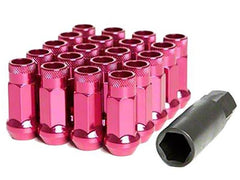 Muteki SR48 Series Pink Lug Nuts 20 PC (12x1.25, Extended Open End)