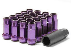 Muteki SR48 Series Purple Lug Nuts 20 PC (12x1.25, Extended Open End)