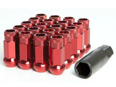 Muteki SR48 Series Red Lug Nuts 20 PC (12x1.25, Extended Open End)