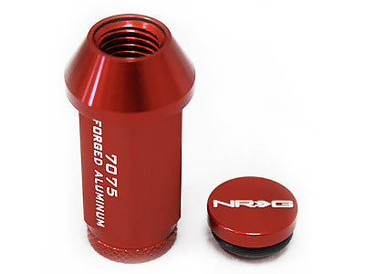 NRG Red Lug Nut Set 4 PC (M12x1.25, 7075 Aluminum)