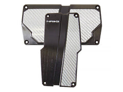 NRG Brushed Aluminum Sport Pedal Black w/ Silver Carbon A/T