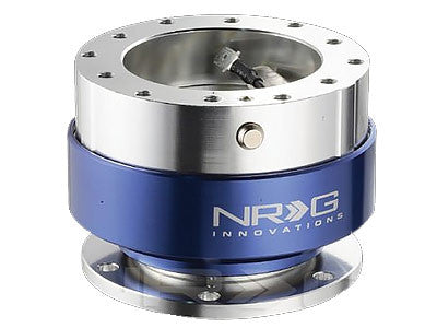 NRG Quick Release Kit Gen 1.0 (Silver Body / Blue Ring)