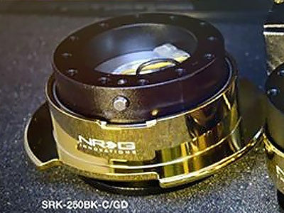 NRG Quick Release Kit Gen 2.5 (Black Body / Chrome Gold Ring)