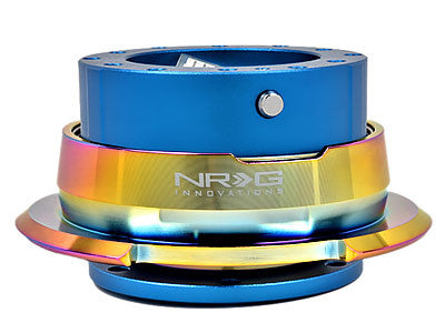 NRG Quick Release Kit Gen 2.8 (Blue Body / Diamond Cut Neochrome Ring)