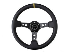 "NRG Sport Steering Wheel 350MM 3"" Deep (Black / Yellow Center Marking)"