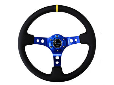 "NRG Sport Steering Wheel 350MM 3"" Deep (Blue / Yellow Center Marking)"