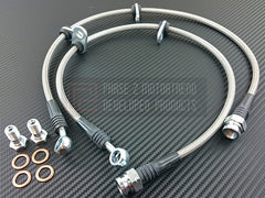 P2M Front Steel Braided Brake Lines 2000-2005 Honda S2000