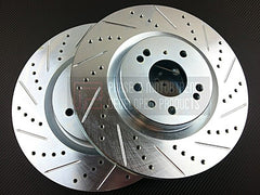 P2M Front Brake Rotors 2003-2008 Nissan 350Z Brembo (Cross Drilled / Slotted)