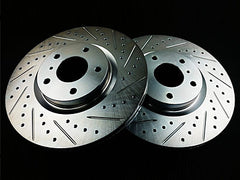 P2M Front Brake Rotors 2005 Infiniti G35 RWD, Non-Brembo (Cross Drilled / Slotted)