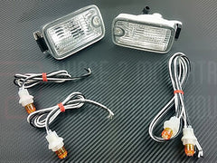 P2M JDM 180SX Type-X Dual Post Front Position Lights 1989-1994 Nissan 240SX, 180SX (LED)