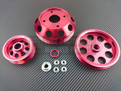 P2M Lightweight Pulley Kit Red 1989-1994 Nissan 240SX, S13, SR20DET