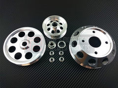 P2M Lightweight Pulley Kit Silver 1989-1994 Nissan 240SX, S13, SR20DET