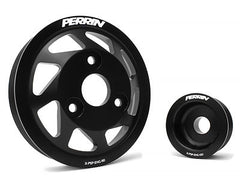Perrin Lightweight Accessory Pulley Kit Black 2013-2015 Subaru BRZ