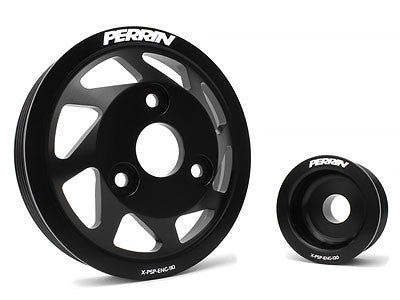 Perrin Lightweight Accessory Pulley Kit Black 2013-2015 Scion FR-S