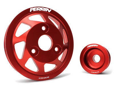 Perrin Lightweight Accessory Pulley Kit Red 2013-2015 Subaru BRZ