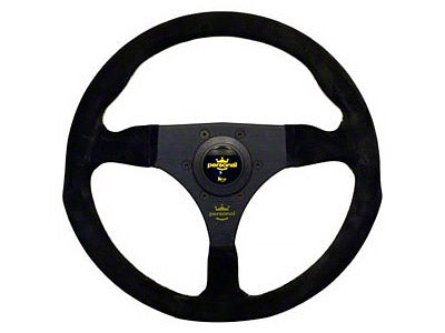 Personal Fitti Racing Steering Wheel 320MM (Black Suede / Black Spokes / Yellow Stitching)