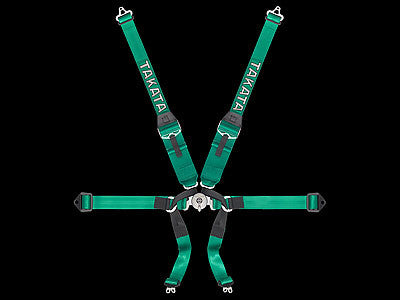 Takata Race Series Harness Formula 6 Hans Green 6-Point Harness
