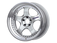 "Work Meister S1 3-Piece Wheels Silver 18"" 5x114.3"