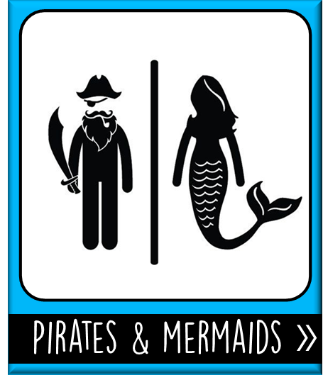 Printable Pirates & Mermaids Party Collection