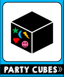 Printable Party Cubes Theme Party Games
