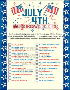 4th of July Scavenger Hunt Game