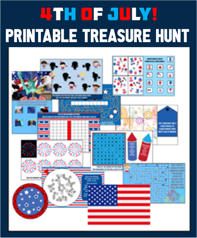 4th of July Treasure Hunt Game - EDITABLE!