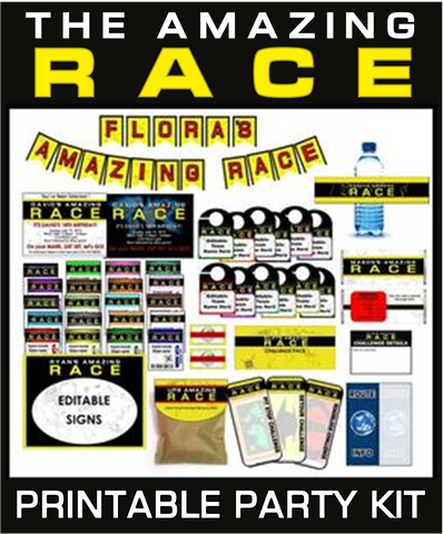 Amazing Race Party Printables - EDITABLE!