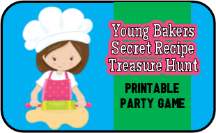 Mystery Recipe Bakers Treasure Hunt Game