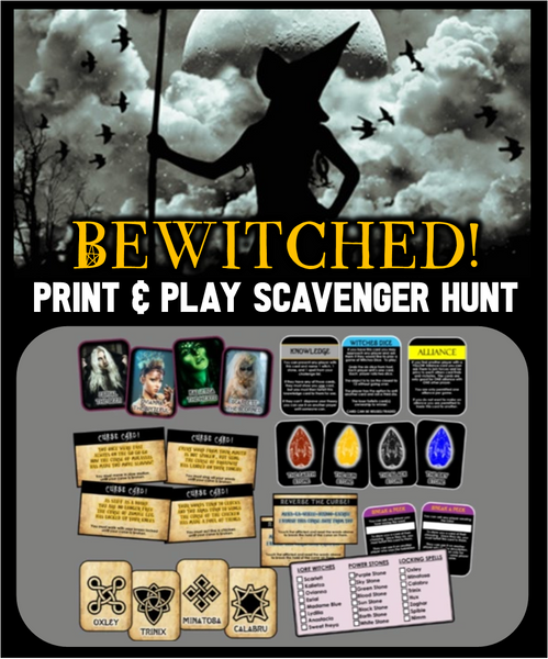 Clues,Spells, and Curses Halloween Scavenger Hunt - Bewitched Edition NEW!