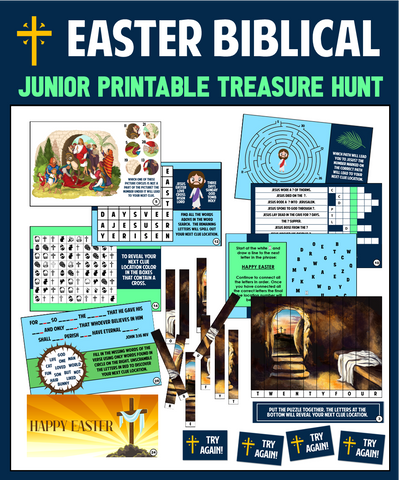 Junior Easter Trivia Treasure Hunt - Biblical Edition!