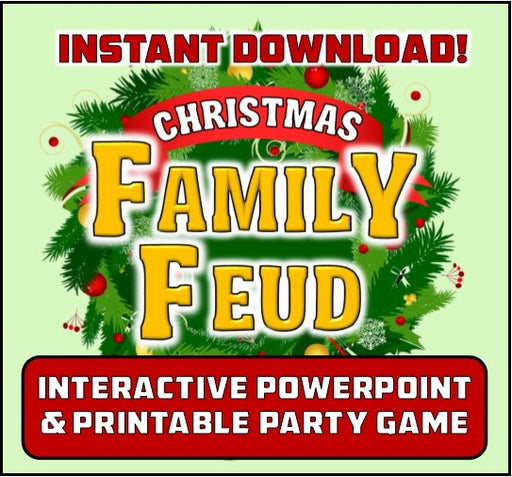 Christmas Family Feud Inspired Party Game - Interactive Powerpoint!