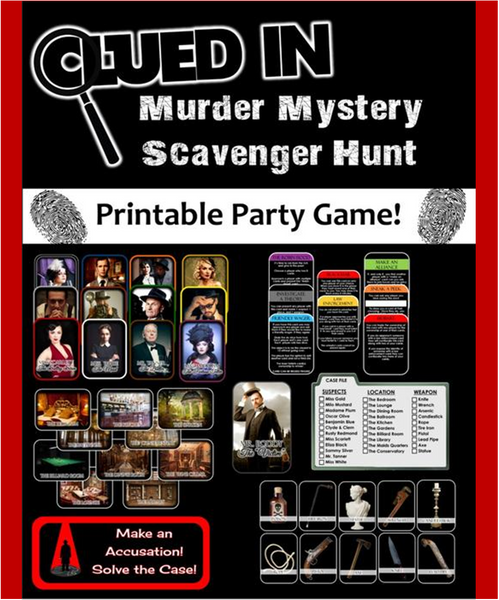 Clued In! Murder Mystery Scavenger Hunt