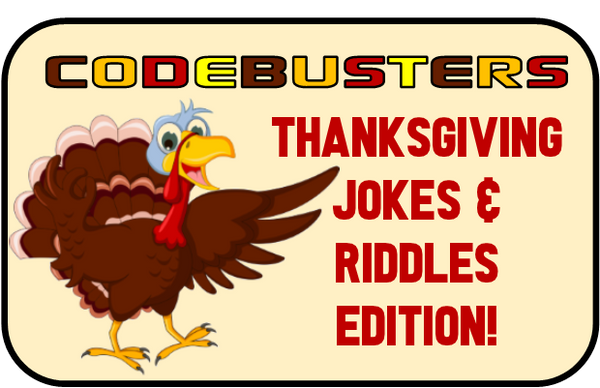 Thanksgiving Riddles CodeBusters - Printable Hunt Game