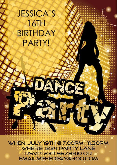 Dance Party Invitation - Editable